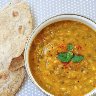 Dal Panchratan / Pancharatni (Dal Curry with Five Lentil Types)
