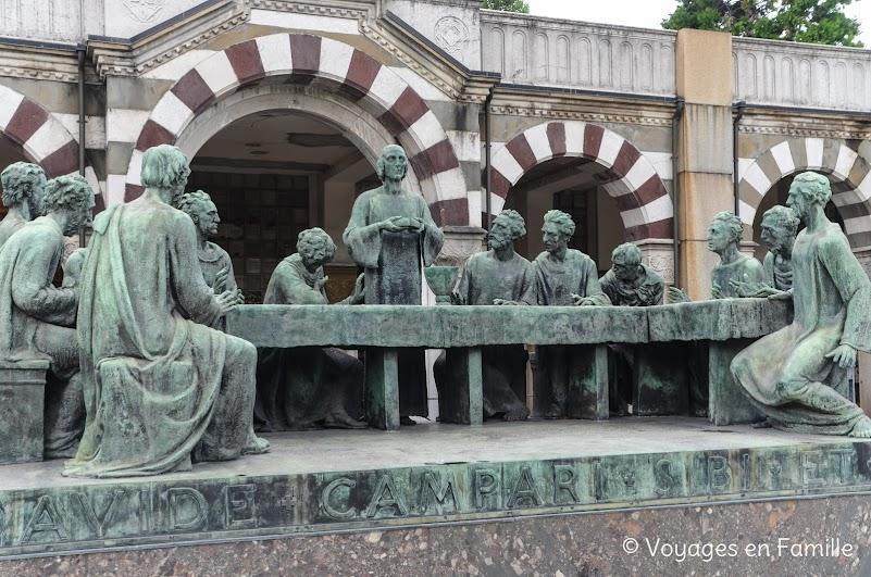 Cimetière Monumental Milan - La Cène
