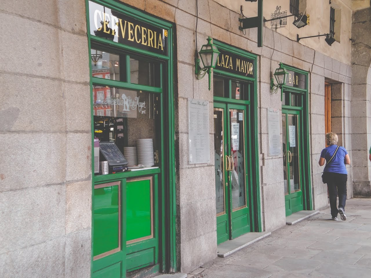 One of the bars around La Plaza Mayor