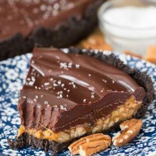 Salted Caramel Pecan Chocolate Pie.