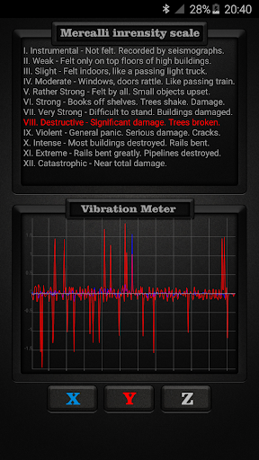 Vibration Meter PRO app for Android screenshot