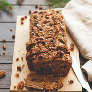 Spiced Christmas Bread with Nuts and Dried Fruit.