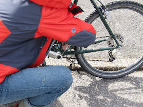 Photo: Day 1 - The Published Stephen Lord, Showing us Newby Adventurers how to do a Proper Roadside Repair!!!