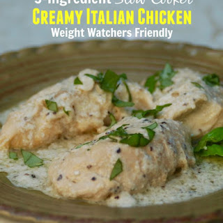 3-Ingredient Slow Cooker Creamy Italian Chicken Made Lighter Recipe
