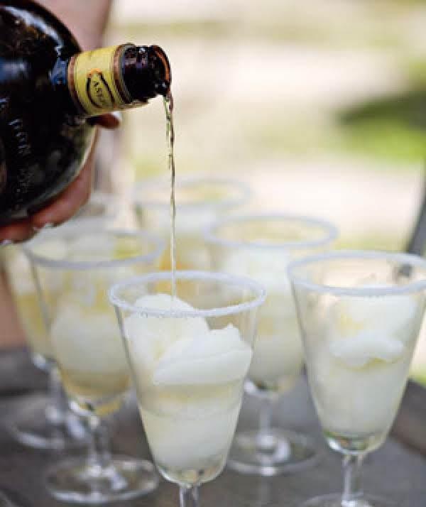 Lime Sorbet Margaritas Recipe