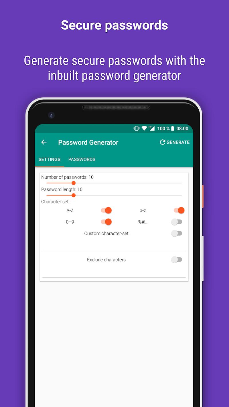 Password Safe and Manager Screenshot 4