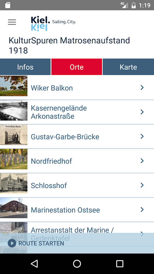 Kieler KulturSpuren – Screenshot