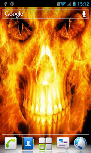 Skull in flames Live Wallpaper screenshot 2