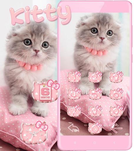 Pink Cute Kitty Cat Theme  screenshots 5