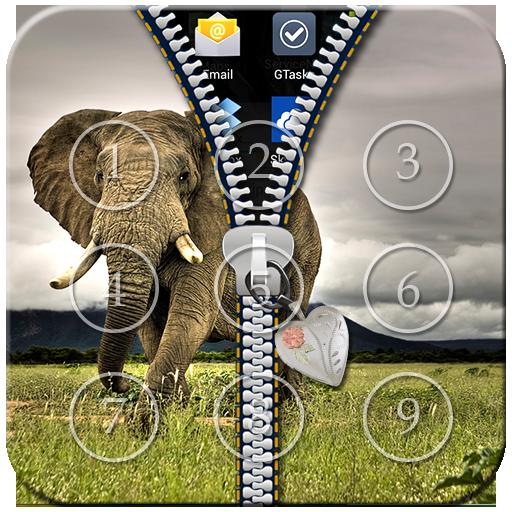 Elephant Zipper Lock