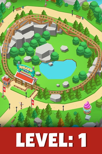 Idle Theme Park Tycoon - Recreation Game Android App Screenshot