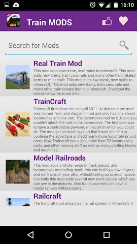 android Train Mod For MCPE. Screenshot 1