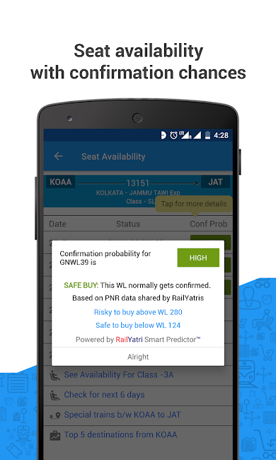 #5. PNR Status & Indian Rail Info (Android)