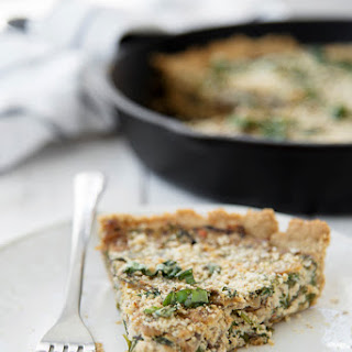 Arugula and Mushroom Quiche Recipe