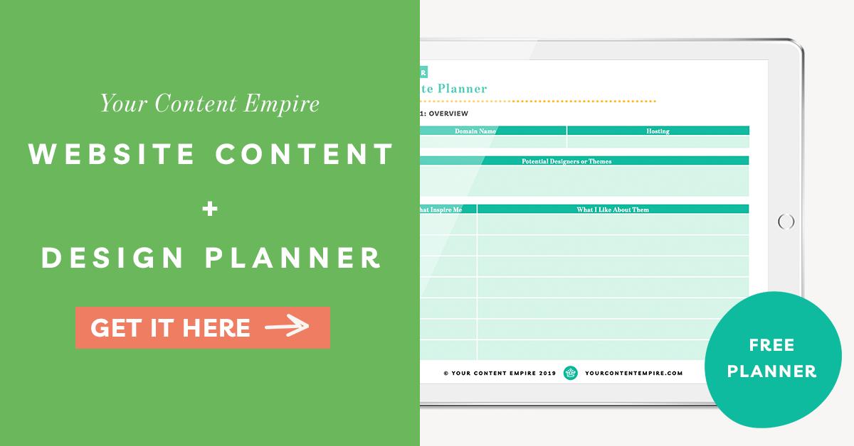Freebie | Website Content + Design Planner