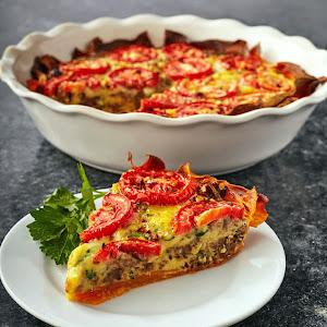 Sweet Potato & Sausage Pie