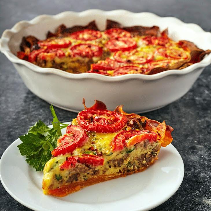 Sweet Potato & Sausage Pie Recipe