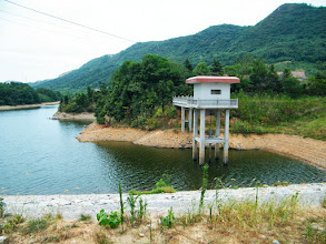 Photo: journey hometown in summer 2013 shakes doubts and plows hope: lingering in Town Tian in summer heat most of our vacation.our cherished dam, now suffering pollution from nearby factory and poultry farm.here its  pipe gate rebuilt recently.