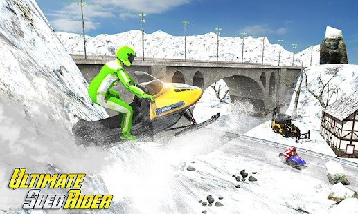 Sledge Racing Mountain Slide - Winter Sport - náhled