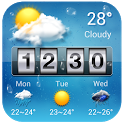flip clock and weather icon