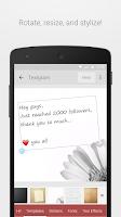 Screenshot of Textgram - write on photos
