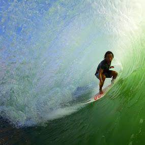 Koki Barreled  by Trevor Murphy - Sports & Fitness Surfing ( canon eos 7d  ef8-15mm f/4l fisheye usm )