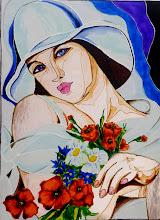 Photo: 112, Нетронина Наталья, Настроение , Витражные краски, контуры, фольгированный карто н(витражные картины), 35х28см,