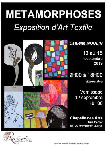 metamorphoses exposition d'art textile