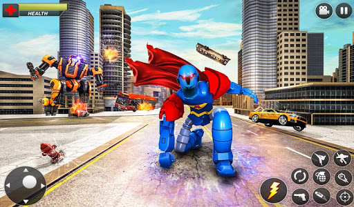 Flying Hero Robot Transform Car: Robot Games modavailable screenshots 15