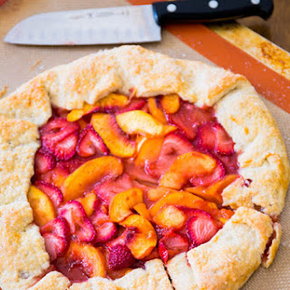 Rustic Strawberry Peach Galette