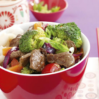 Sweet Chili Beef with Noodles.