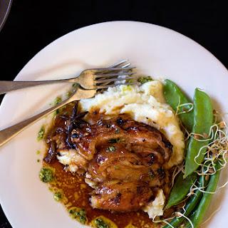 Slow Roasted Leg of Pork with Ginger and Coriander Pesto Recipe