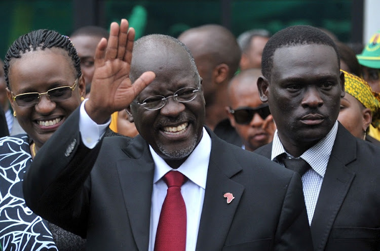 Tanzanian President John Magufuli pledged to tackle corruption when he came to office in November. Since then the president, nicknamed 'Tingatinga' (bulldozer), has fired at least seven government agency heads. Picture: REUTERS/SADI SAID