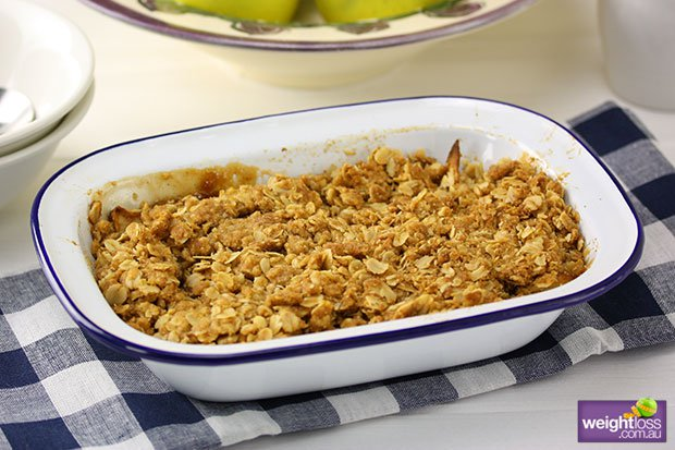 Low Fat Apple & Pear Crumble Recipe