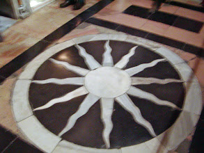 Photo: A twelve-sided star at the Calvary site, depicting the twelve apostles