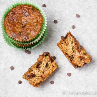 Chocolate Chip Zucchini Almond Meal Muffins.