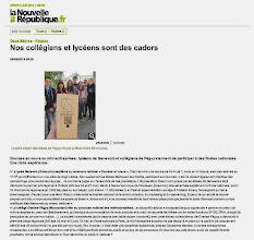 Photo: 2014-06-06 NR Nos collégiens et lycéen sont des cadors