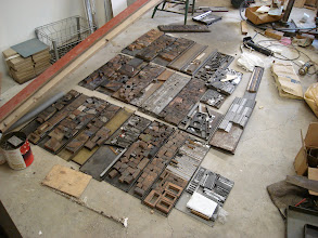 Photo: The electrotype collection prior to moving to the new shop.