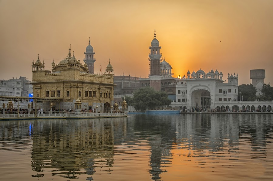 Golden Temple by KP Singh - Landscapes Sunsets & Sunrises ( religion, punjab, sikhism, india, amritsar )