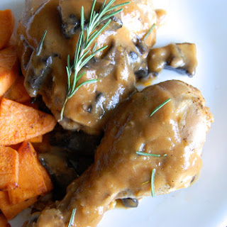 Chicken With Rosemary Mushroom Sauce.