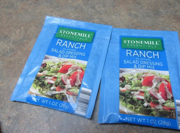 2 packets of Ranch salad dressing and dip mix