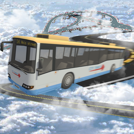 Impossible bus driving sky tracks (game)