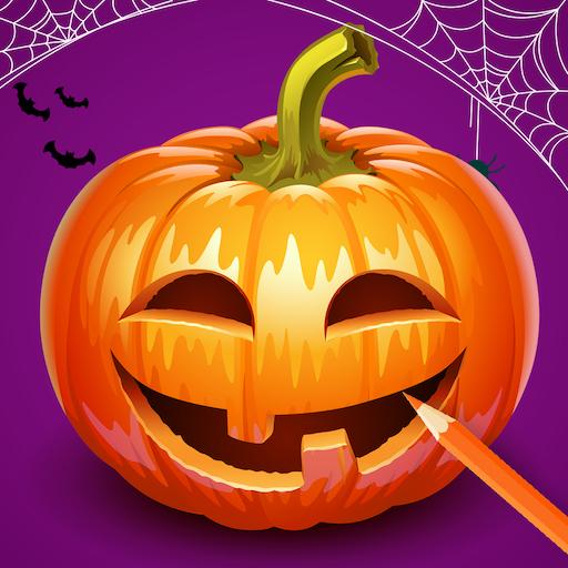 Horror Weihnachtsbilder.Halloween Coloring Book Monsters Coloring Pages Apps Bei Google Play