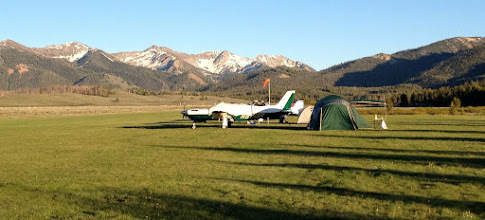Photo: Garrett's Piper Turbo Saratogo with Galena Pass and Sun Valley In Background Looking South