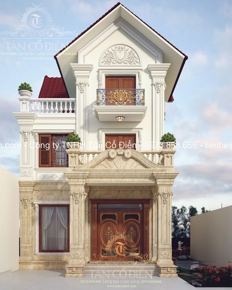Thiết kế biệt thự theo phong cách cổ điển hoàn hảo