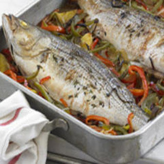Whole Roasted Fish Basquaise
