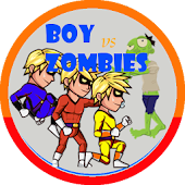 Boy Superhero vs Zombies
