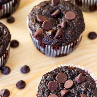 Skinny Chocolate Banana Fudge Muffins.