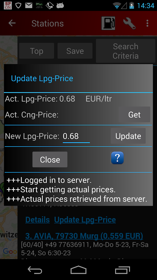Cng/Lpg Finder EUR & US- screenshot
