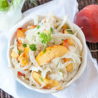 Fennel Salad with Peaches.